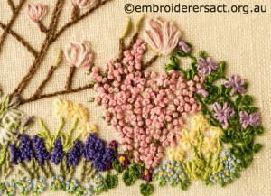 Detail 7 of Floral Garden stitched by Sue Scorgie