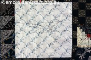 Detail 7 of Sashiko Sampler Quilt by Jennifer Zanetti