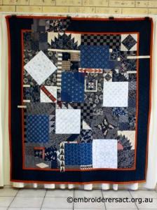 Sashiko Sampler Quilt by Jennifer Zanetti