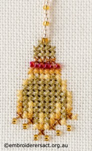 Detail 6 of Autumn Queen x-stitched by Sharon Burrell