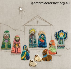 Retro Nativity Scene stitched by Jillian Bath  copy
