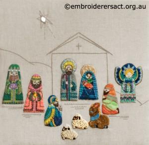 Retro Nativity Scene stitched by Jillian Bath  copy