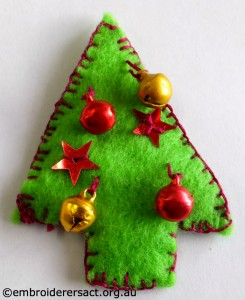 Xmas Tree Ornament by Angela R