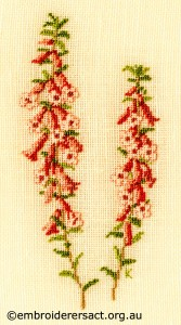 Common Heath stitched by Kay Reid
