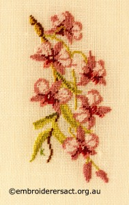 Cooktown Orchid stitched by Kay Reid