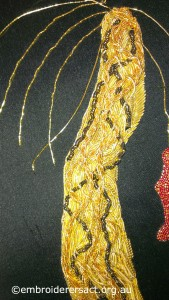 Detail 1 of Dragon Goldwork by Pat Bootland