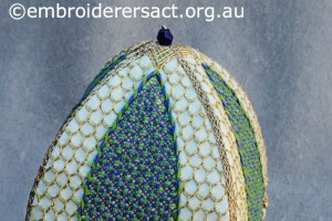 Detail 4 of Bird Cage stitched by Jillian Bath