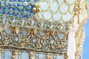 Detail 6 of Bird Cage stitched by Jillian Bath