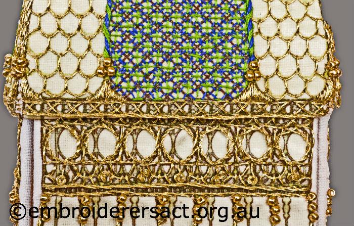 Stitched bird cage