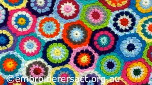 Detail of Crochet Rug by Janice Brennan