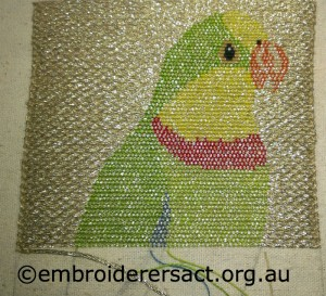 Or Nue Superb Parrot in Progress by Jan Hure
