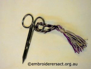 Scissors Fob by Cecilia Skene