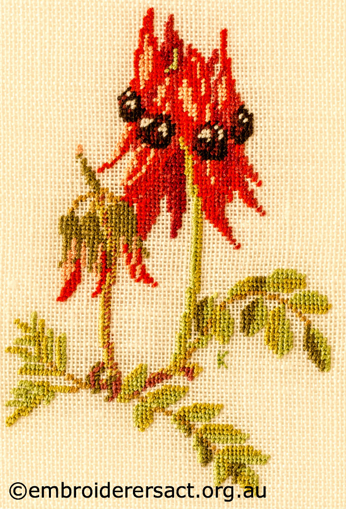 Wattle design embroiderers guild act