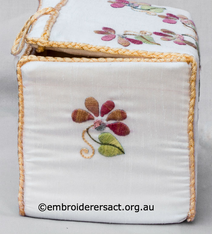 Embroidered box