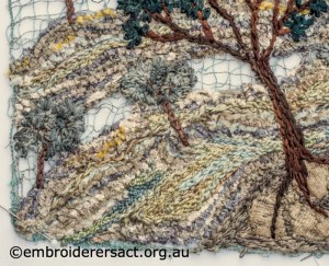 Detail 3 of Trees in Landscape by Pat Bootland