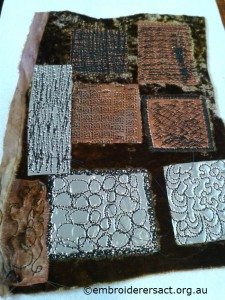 Stitching on metal2 by Margaret Lamond