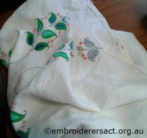 Vintage Semco linen cloth by Sandra Pollard