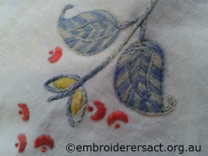 Vintage Semco linen cloth detail by Sandra Pollard