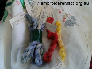 Vintage Semco linen cloth threads by Sandra Pollard