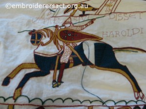 Bayeux Tapestry panel1 by Jenny Balderson