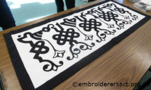 Cairo rug makers applique panel by Kate Ross