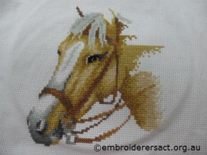 Counted x stitch horse 2 by Anne Hazell