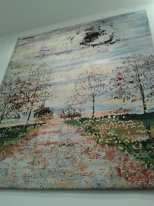 Tapestry @ AWM Based on oil painting by Imants Tillers