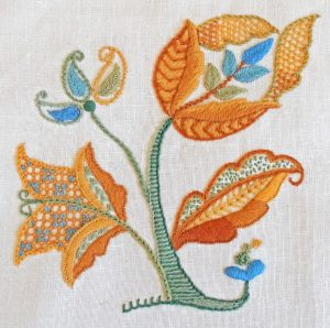 Image of Crewel Embroidery - Autumn Gold