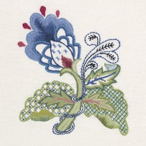 Image of Crewel Embroidery - Blue Elegance