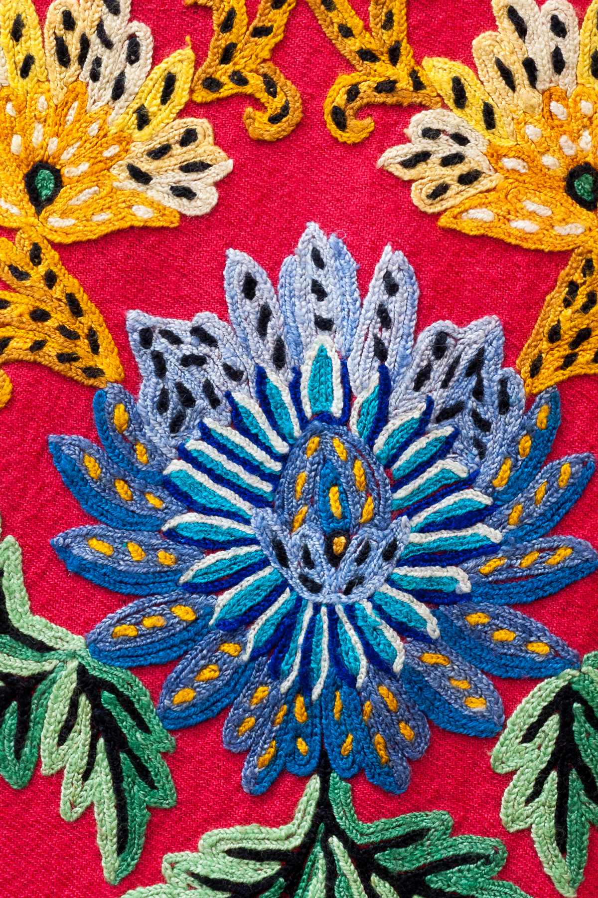 Detail flowers from Nepalese dress