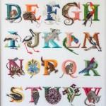 Embroidered Australian Alphabet
