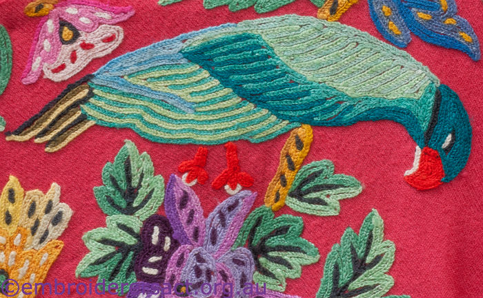 Bird motif in Nepalese dress in collection