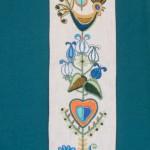 Birds, Hearts & Flowers Bellpull