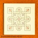 Celtic Knot stitched in blackwork