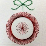 Christmas Decoration stitched on Paper