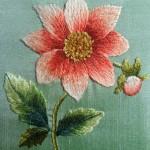 Dahlia Thread Painting