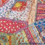 Detail of 1937 crazy patchwork tea cosy