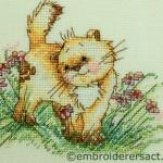 Detail Happy Cat X-stitch F.Basilisco