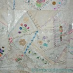 Detail Crazy Patchwork wall hanging