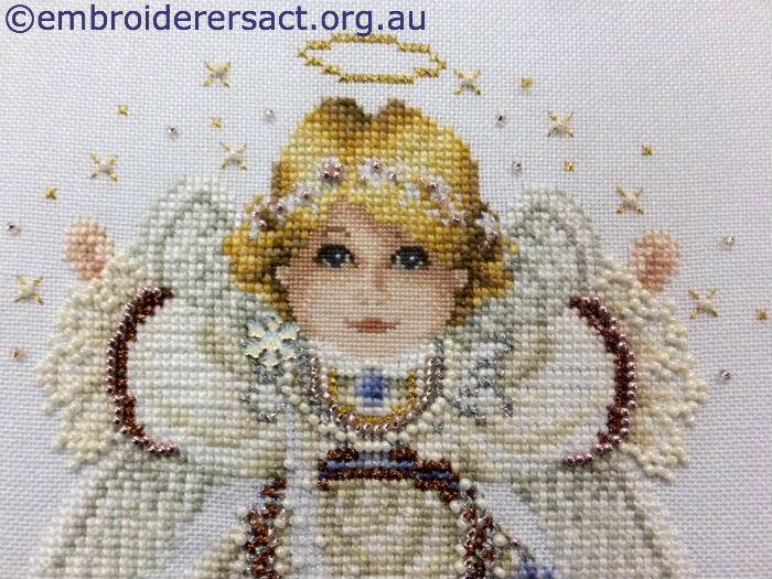 Detail of Angel X stitch