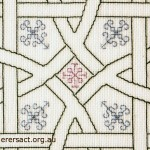 Detail of Celtic Knot stitched by Di Ballantyne