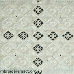 Detail Hardanger doyley stitched by Gloria Steptoe