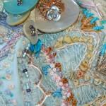 Detail Crazy Patchwork purse by Suzanne Clarke