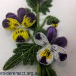 Detail of Viola Tricolor Stumpwork