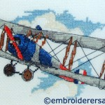 Cross stitch aeroplane by Floriana Basilisco