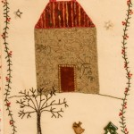 House detail of Xmas Wall Hanging