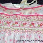Smocked dress by Lorna Loveland
