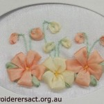 Ribbon embroidery on card