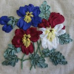 Silk Ribbon Embroidery Pansies