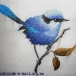 Splendid Wren Thread Painting